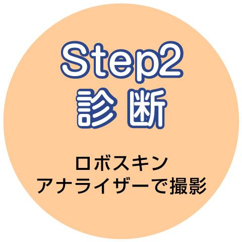 step2 診断 ロボスキンアナライザーで撮影