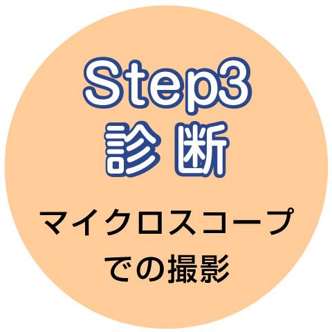 step3 診断 マイクロスコープで撮影